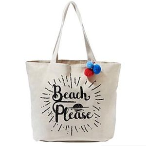 Handbags - ONE LEFT! Canvas Print Tote Bag Beach Please